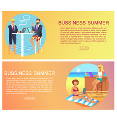 Business summer collection vector