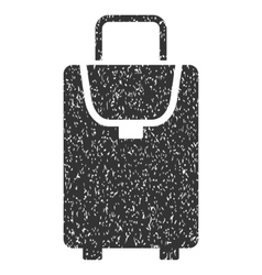 Carryon Icon Rubber Stamp vector