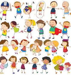 Children actions vector