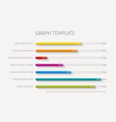 column horizontal graph template vector image