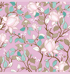 delicate seamless pattern with large decorative vector image