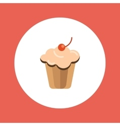 Delicious cake vector image