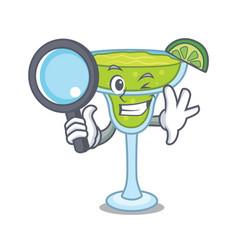 detective margarita character cartoon style vector image