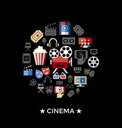 digital red black cinema vector image