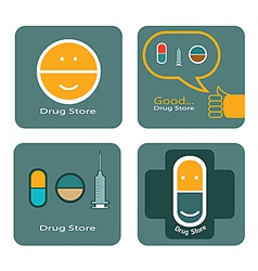 Drug store icon design vector