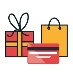 E-commerce buy credit card gift design vector