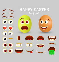 easter egg emoji maker emoticon creator vector image