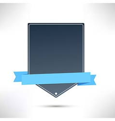 Flat web banner template ribbon vector image