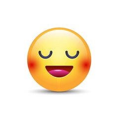 Fun cartoon emoji smiley icon face happy smiling vector