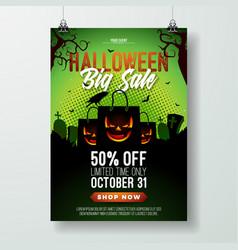 Halloween sale flyer with vector