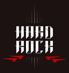 Hard Rock badge - original lettering with vector
