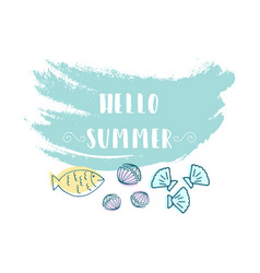 hello summer vector image