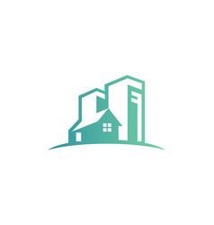 House cityscape building logo vector