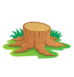 Image with tree root theme 1 vector