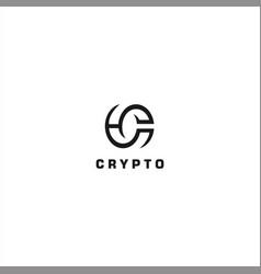 initial letter c logo design template vector image