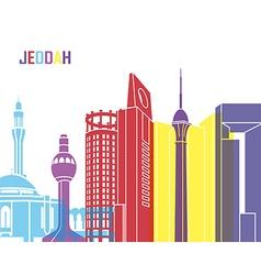 Jeddah skyline pop vector