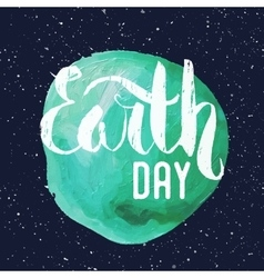 Lettering Poster for Earth day vector image