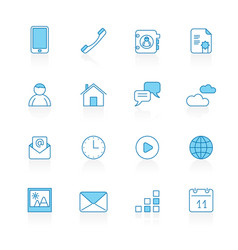 line with blue background communication vector image