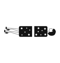 Magician sawing box with a woman vector