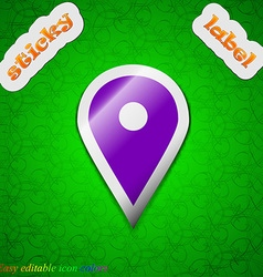 Map pointer GPS location icon sign Symbol chic vector