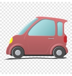 Mini car Single cartoon symbol vector