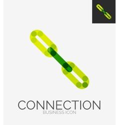 Minimal line design logo chain icon vector image