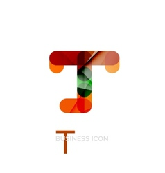 Minimal T font or letter logo design vector