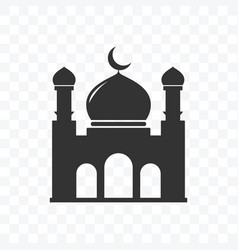 Mosque icon flat design isolated vector