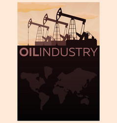 oil industry tower oil exploration flat vector image