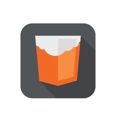 Orange shield with old vector