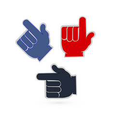 pointing fingers set vector image