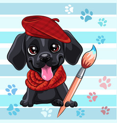 puppy dog labrador retriever vector image