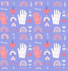 romantic seamless pattern boho background vector image