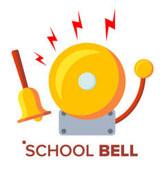 School bell ring ringing classic electric vector