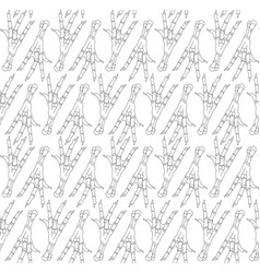 seamless pattern with legs of chickens vector image
