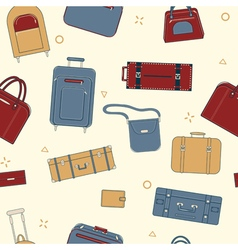 Seamless Travel Pattern with Baggage vector