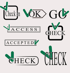 Set of check symbol vector