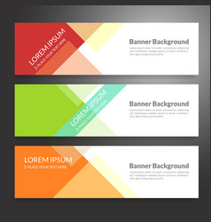 set of horizon abstract colorful banner vector image