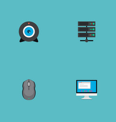 set of laptop icons flat style symbols with vector image