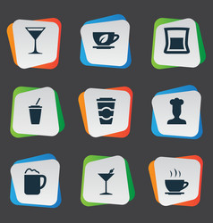 Set of simple food icons vector
