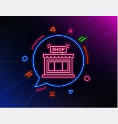 Shop line icon store symbol vector