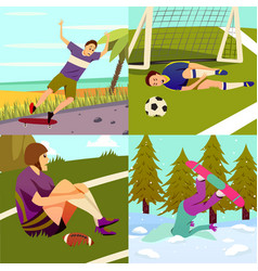 Sport injuries design concept vector