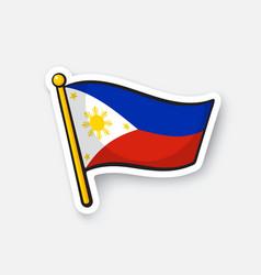 Sticker flag philippines vector