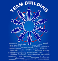Team building presentation leaflet flyer with vector