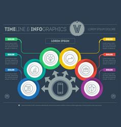 Template of a infochart diagram or presentation vector