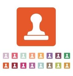 The stamp icon Cliche symbol Flat vector image