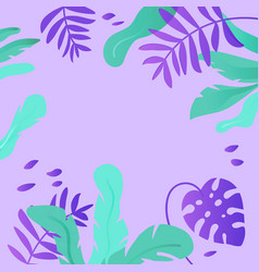 tropical leaves background exotic floral vector image