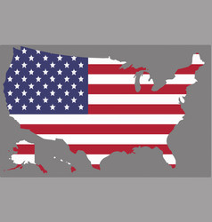 united states map with the american flag vector image