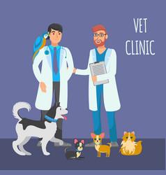 Veterinary consultation flat color vector