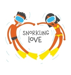 we love snorkeling vector image